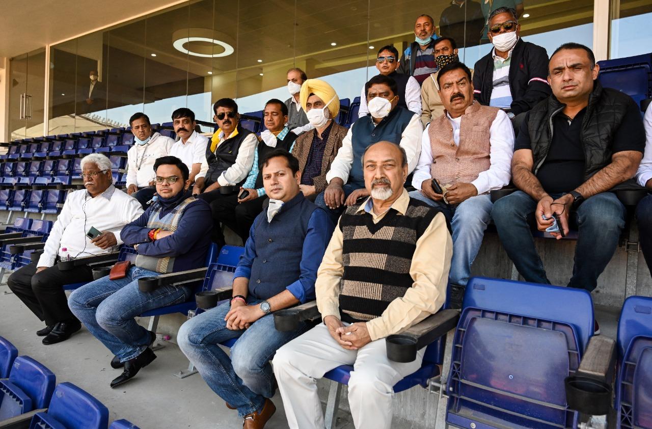 Vabhaiv ji Jay Shah RCA official at Motera Stadium