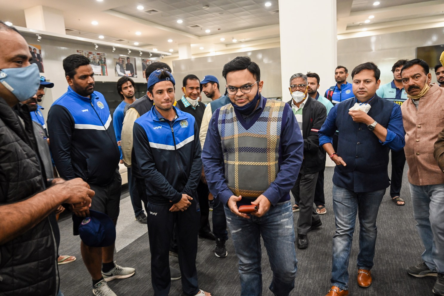 Vaibhav Ji , Jay Shah with Players Small